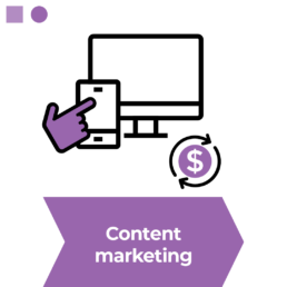 An infographic showing content marketing