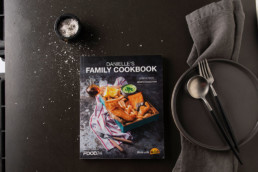The cover of the Food24 Family Cookbook made with McCain