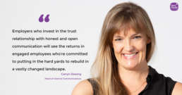 A quote from New Media Head of Internal Communications Carryn Dewing